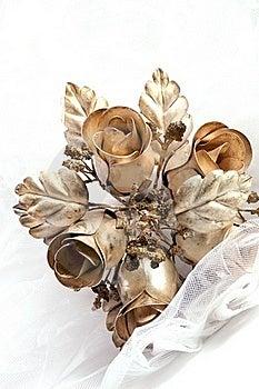 Metallic Wedding Bouquet Stock Photo - Image: 17071440