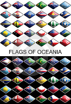 Flags Of Oceania, Countries, Nations, Colours Stock Image - Image: 17072761
