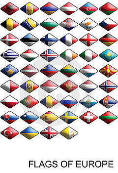 Flags Of Europe, Countries, Nations, Colours Royalty Free Stock Image - Image: 17072826