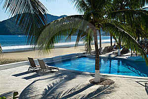 Relaxing Seaside Resort Royalty Free Stock Images - Image: 17076399