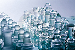 Transparent Glass Chess Stock Images - Image: 17077314