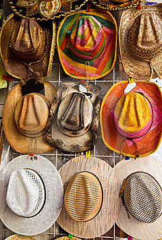 Souvenir Hats Royalty Free Stock Images - Image: 17078559