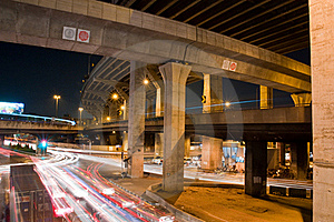 Express Way In The Night Royalty Free Stock Images - Image: 17079089