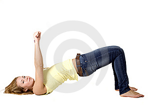 Sportive Girl Doing Exercises Stock Photos - Image: 17079863