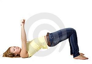 Sportive Girl Doing Exercises Stock Photos - Image: 17079863