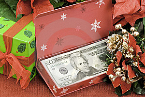 Christmas Cash Royalty Free Stock Photography - Image: 17080117