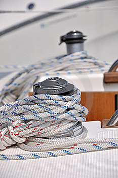 Rope Wraping On Bollard Of Yacht Stock Images - Image: 17080514