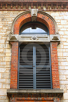 Decorative Shuttered External Window Royalty Free Stock Image - Image: 17080546