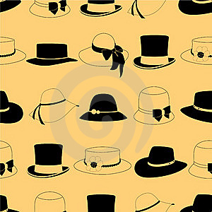 Seamless Pattern With Hats Stock Photography - Image: 17080762
