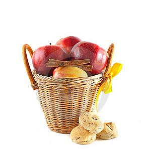 Red Apples In A Basket Royalty Free Stock Photo - Image: 17082065
