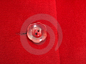 Red Button On  Coat Royalty Free Stock Photography - Image: 17082717