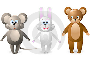 Mouse, Rabbit, Bear Stock Photography - Image: 17088482