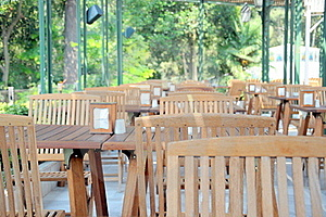 Wooden Chairs And Tables Stock Photos - Image: 17088653