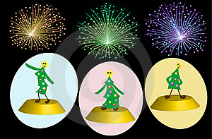 Party Of Three Trees Royalty Free Stock Photography - Image: 17088947