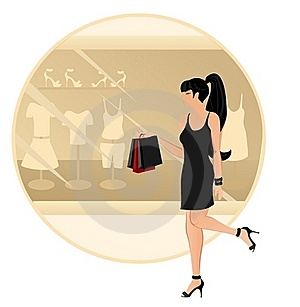 Shopping Woman Stock Images - Image: 17090924