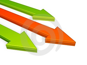 Green And Red Arrows, Growth Concept Stock Photo - Image: 17091440