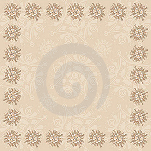 Beige Square Frame Three Royalty Free Stock Images - Image: 17093159