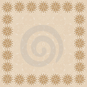 Beige Square Frame One Stock Photography - Image: 17093162