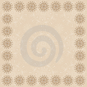 Beige Square Frame Two Royalty Free Stock Image - Image: 17093166