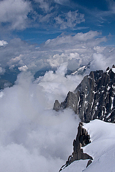 Rock Face, Aiguille Du Midi, Chamonix Stock Photos - Image: 17093283