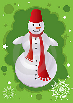 Snowman Royalty Free Stock Images - Image: 17094299