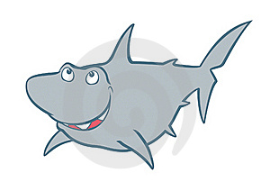 Shark Cartoon Stock Photo - Image: 17094320