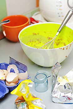 Dirty Kitchen Royalty Free Stock Photography - Image: 17094797