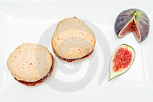 Almond And Fig Cookies Stock Photos - Image: 17095493