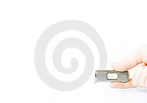 Flash memory stick Royalty Free Stock Images