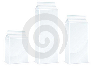 Milk Packages Royalty Free Stock Images - Image: 17097949