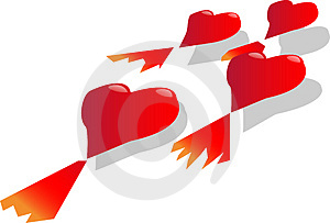 Flying Hearts Stock Images - Image: 1716154