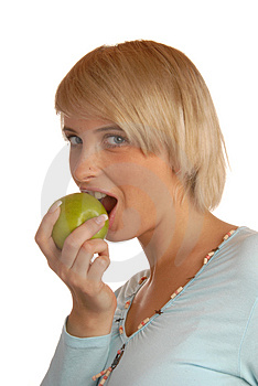 Bite Into Green Apple Stock Photography - Image: 1718222