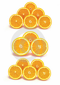 Sliced Orange Collection Royalty Free Stock Photos - Image: 17102028