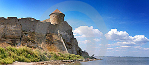 Medieval Tower Of Citadel Belgorod Cetatea Alba Royalty Free Stock Photos - Image: 17105528