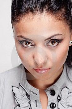 Close Up Portrait Of Young Hispanic Woman Stock Photo - Image: 17107800