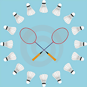 Badminton Concept Card Royalty Free Stock Photography - Image: 17109117