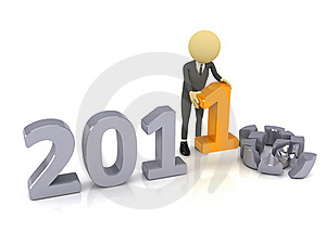 3d Person With Number 2011 Royalty Free Stock Images - Image: 17111089