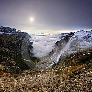 Mountains Over The Fog Royalty Free Stock Images - Image: 17122819