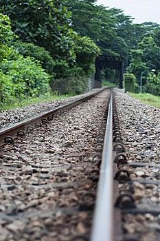 Railway Track Stock Image - Image: 17123941
