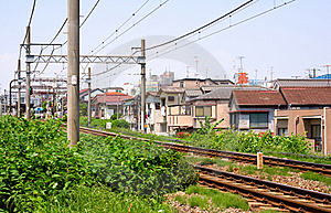 Rails And Catenary Royalty Free Stock Photo - Image: 17124065