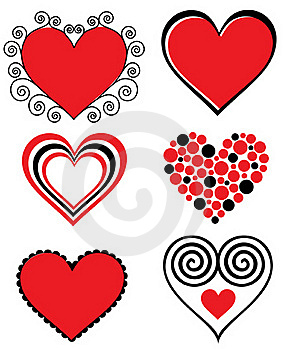 Stylized Hearts Royalty Free Stock Photos - Image: 17124988