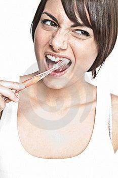 Brushing Teeth Royalty Free Stock Photo - Image: 17125115