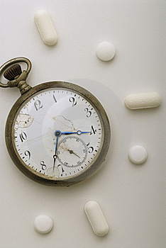 A Pill Every Hour Royalty Free Stock Photography - Image: 17125187