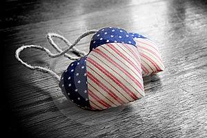 Patriotic Hearts Royalty Free Stock Photo - Image: 17126365