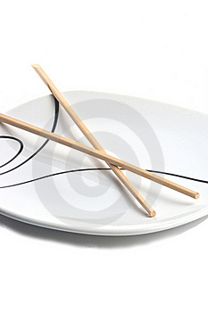 Chopsticks And Plate Royalty Free Stock Images - Image: 17127389