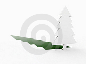 Christmas Tree With Green Shadow Stock Photos - Image: 17130323