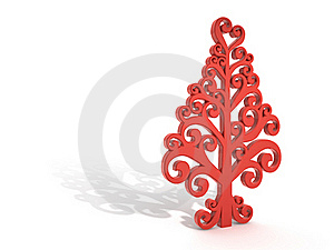 Red Tree With Shadow Stock Images - Image: 17130334