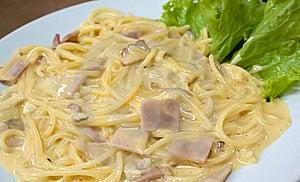 Cabonara Spaghetti Stock Image - Image: 17132311