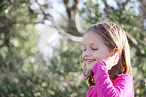 Happy Female Child Royalty Free Stock Photo - Image: 17137625