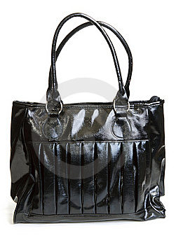 Black Feminine Bag Royalty Free Stock Image - Image: 17142886